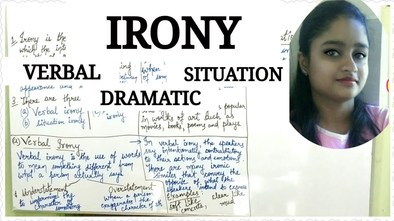 Irony A Figure Of Speech Explained In Hindi Verbal Irony