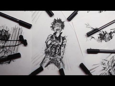 MIdoriya Izuku (Boku no Hero Academia) : Manga Style Drawing