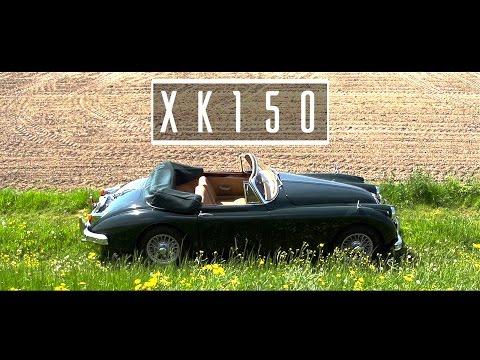 JAGUAR XK150 DHC 1961 - Test drive in top gear - Engine sound   SCC TV