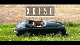 JAGUAR XK150 DHC 1961 - Test drive in top gear - Engine sound | SCC TV