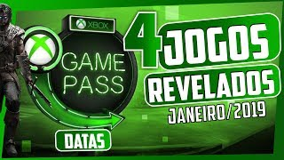 É OFICIAL!! MAIS 4 JOGOS no XBOX GAME PASS em JANEIRO DE 2019!