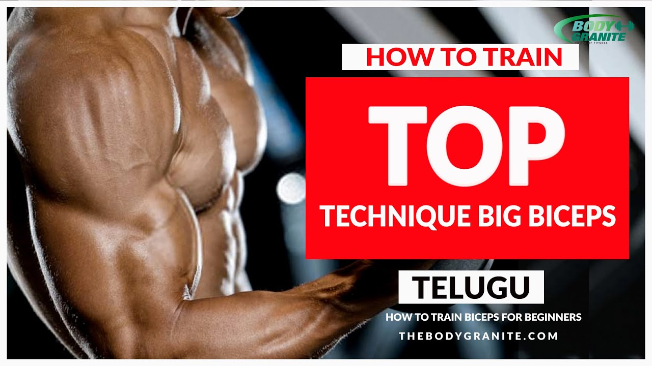 How to Train Biceps for Beginners Simple TECHNIQUE BIG BICEPS Training Fundamentals in Telugu