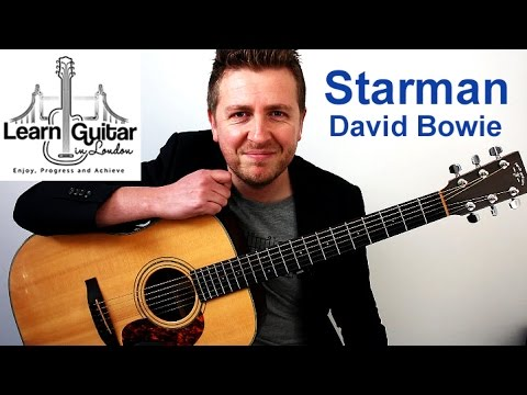 David Bowie - Starman - Acoustic Guitar Lesson - Drue James