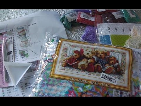 Наборы для вышивки из магазина Mybobbin в Украину - мой опыт - YouTube