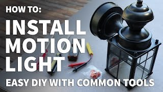 How to Install Exterior Light – DIY Exterior Motion Light Installation – Motion Security Light