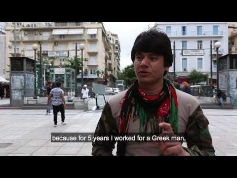 Moustafa Khalozai - Afghan Refugee in Athens