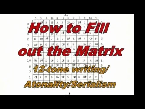 12-tone/serialism/atonality   How to Fill out the Magic Square - -