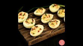Самая вкусная закуска на праздничный стол Фаршированные Яйца! Готовится 5 минут съедается за секунды