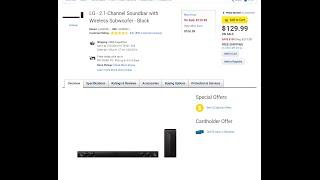 LG Sound Bar  : LAS454B Review  - 300 watts of wow