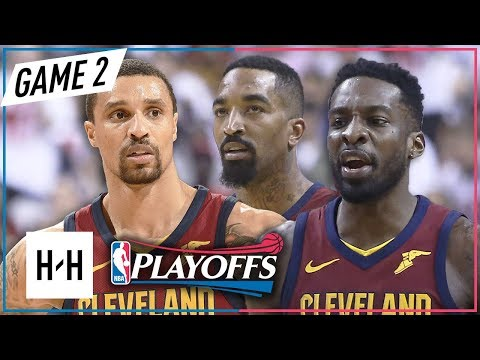 JR Smith, George Hill & Jeff Green Full Game 2 Highlights Cavaliers vs Raptors 2018 NBA Playoffs