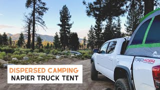 Dispersed Camping for tнe First Time in a Napier Truck Tent