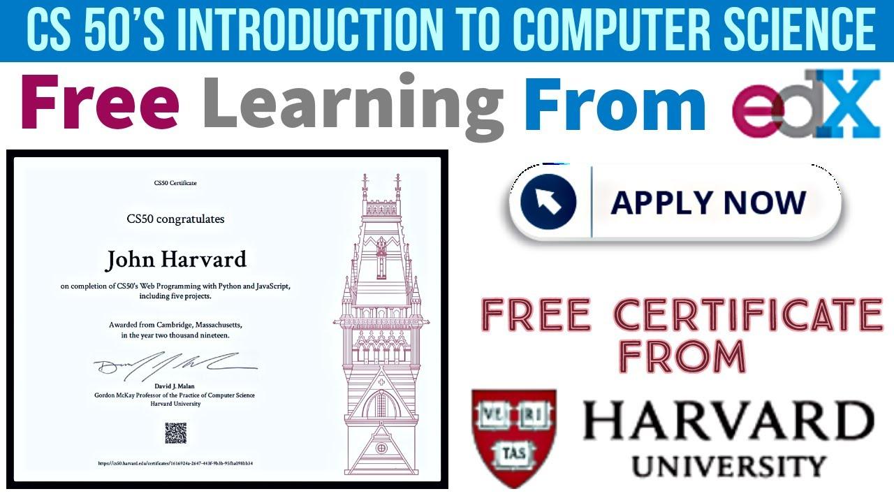 cs50 certificate harvard edx