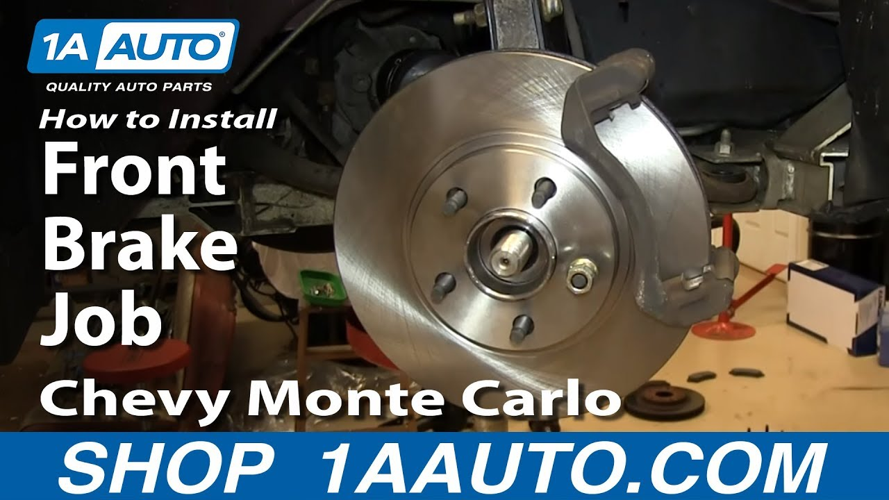 How To Install Replace Do A Front Brake Job 2000 05 Chevy Monte Caption Diagram Of The Basic Disc Setup Arotor B Carlo
