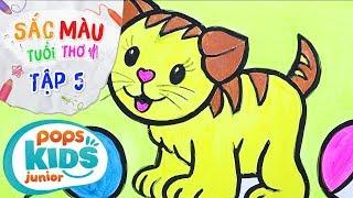 Sắc Màu Tuổi Thơ - Tập 5 - Bé Tập Vẽ Con Mèo | How To Draw A Cat For Kids
