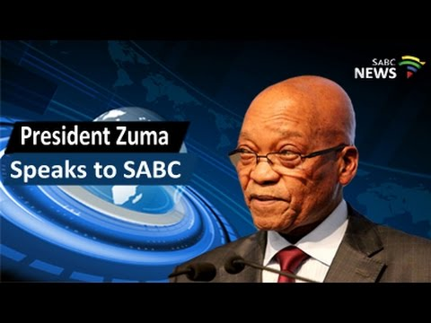 ANC President Zuma speaks to SABC, 15 January 2017