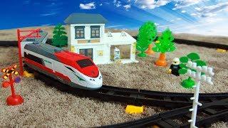 Видео для детей. Синий трактор и его друзья строят железную дорогу