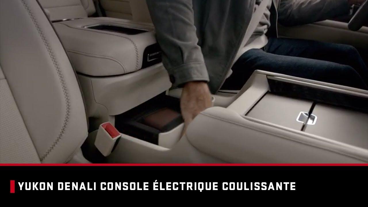 Yukon Denali | Console coulissante | GMC Canada