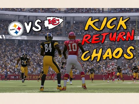 CRAZY GAME OF KICK RETURN CHAOS!!  Madden 17 Mini Games | NFL Playoffs Edition