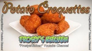 Potato Croquettes - Fried Potato Balls Recipe