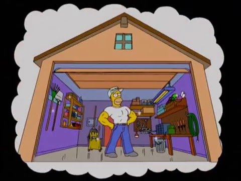 Homer Cleaning The Garage