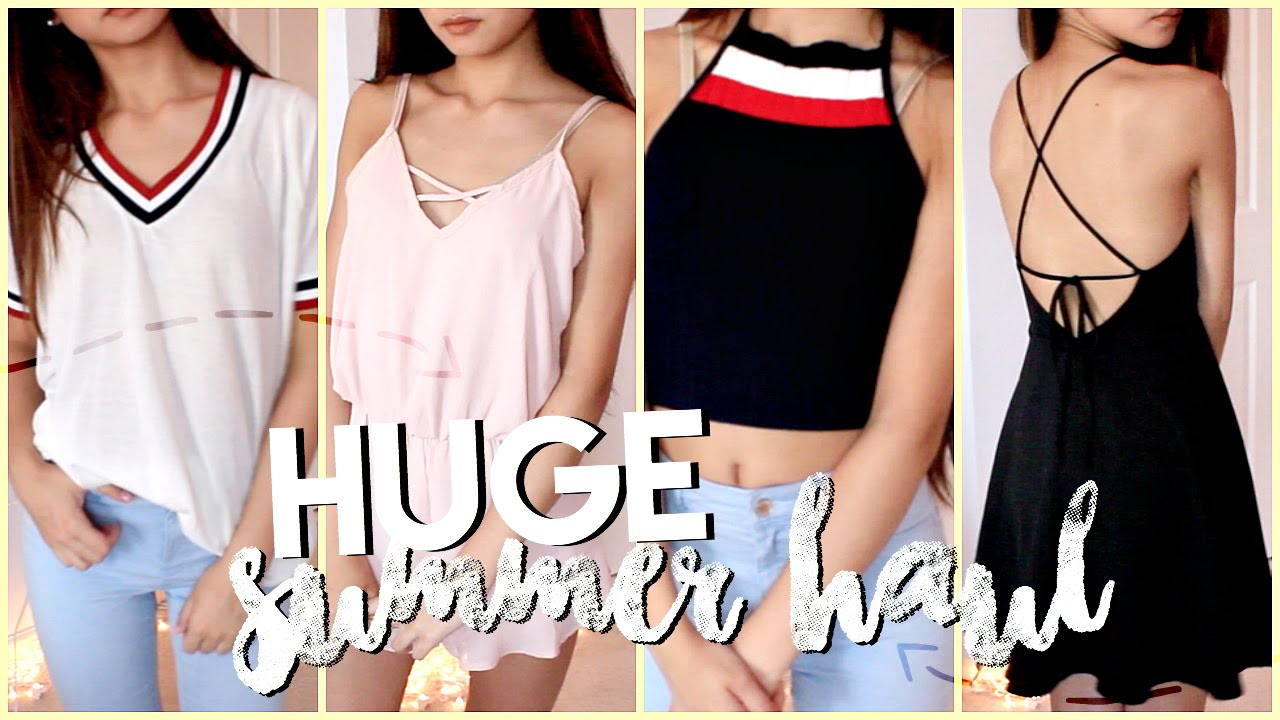 72140fde50 HUGE Try-On Summer Clothing Haul! ✘ Fashion Nova, Zaful, Shein, Forever21  +more - YouTube
