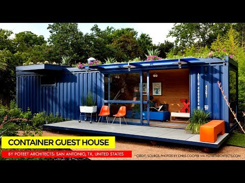 Shipping Container Guest House by Poteet Architects | San Antonio Texas United States