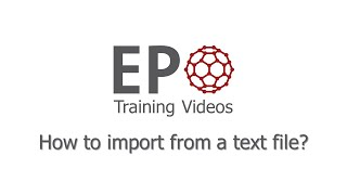 2.2 How to import from a text file?