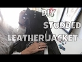 STUDDED LEATHER JACKET | diy new  look