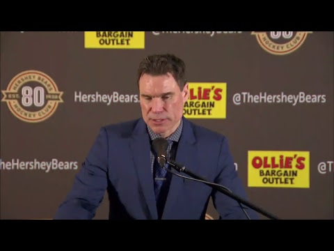 03/16/18 - Bridgeport Sound Tigers @ Hershey Bears - Post Game Press Conference with Troy Mann