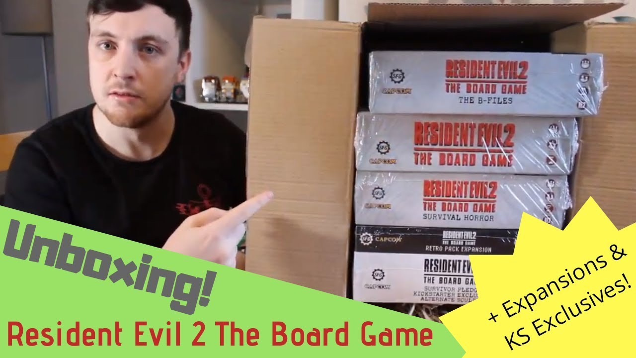 Unboxing! -- Resident Evil 2: The Board Game -- w/ Expansions and some  KICKSTARTER Exclusives!
