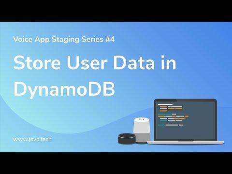 Tutorial] Add DynamoDB to Store User Data   Jovo