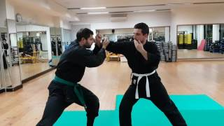 NINJUTSU Uscite e attacco con shuto  / defence from strike and attack with shuto