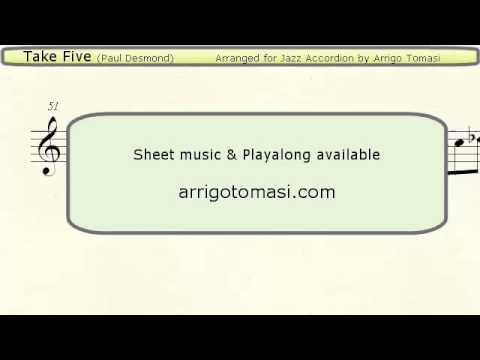 Take Five  Jazz Accordion Sheet Music