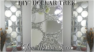 Diy Dollar Tree | Diy Mirrored Wall Art Decor | Zgallerie Inspired | Diy Home Decor 2018