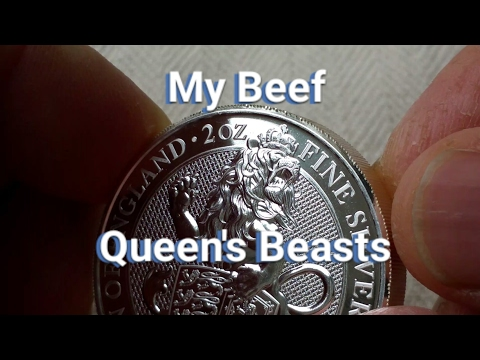 My Beef with the Queen's Beast Series Silver Coins