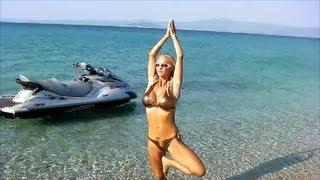 SEXY BIKINI YOGA WORKOUT on the beach