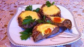 Мясные Гнезда с Яйцом/Блюдо из Фарша/Очень Простой Рецепт(Вкусно и Быстро)