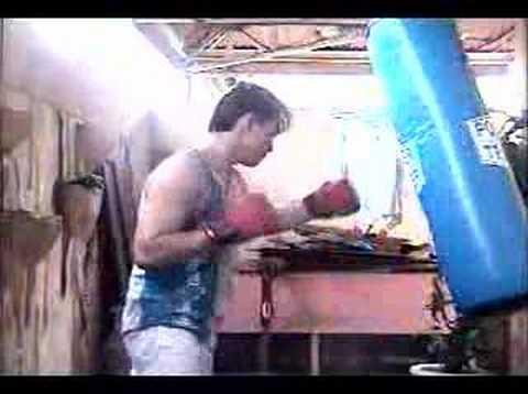 chris soriano 's training (punching bag) philippines