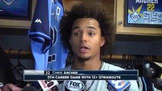 Chris Archer -- Tampa Bay Rays vs. Toronto Blue Jays postgame 4/3/16