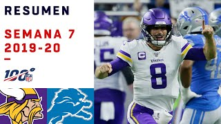 Cousins triunfa en espectacular shootout contra Lions | Highlights Vikings vs Lions