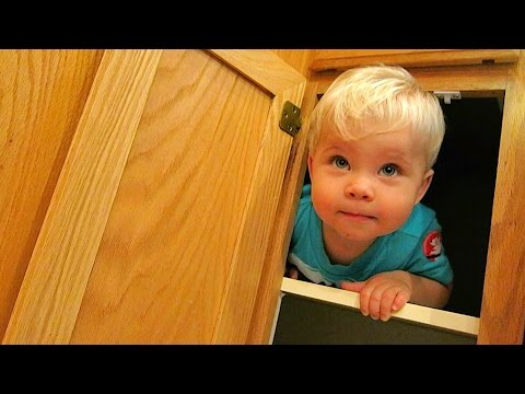 PLAYING IN THE CABINET!