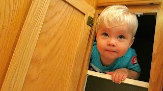 Baby Trapped In Cabinet!