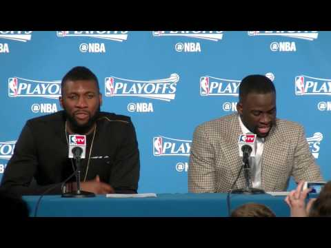 Festus Ezeli laughs about Draymond Green
