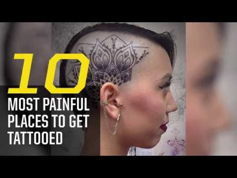 The 10 most painful places to get tattooed youtube for Where is the most painful place to get a tattoo
