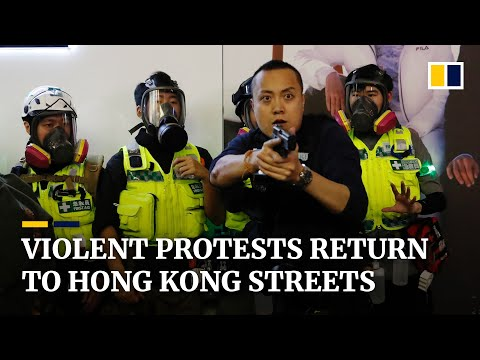 Coronavirus: Hong Kong anti-government protests and violent clashes return amid Covid-19 epidemic