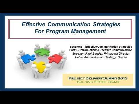 Effective Communication Strategies Part  Introduction To