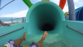 All Tower Waterslides At H20BX Waterpark (POV)