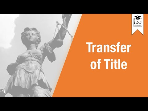 Commercial Law - Sale of Goods: Transfer of Title