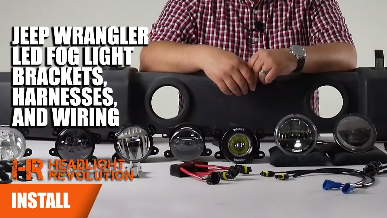 hight resolution of jeep wrangler jk led fog light wiring brackets and anti flicker jeep tj fog light wiring diagram jeep wrangler fog light wiring