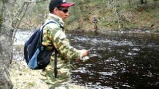 Ловля форели. Trout fishing in Russia..